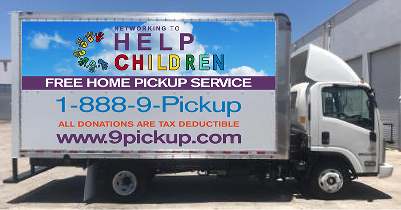 Free Furniture Donation to benefit Palm Beach County Children through 9PICKUP.com